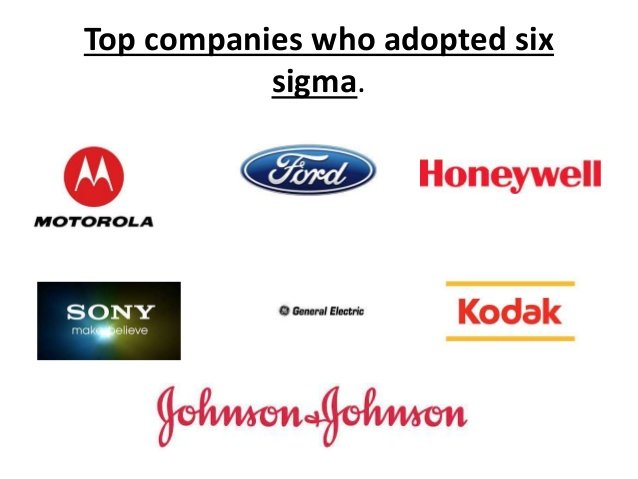 Companies that Adopted Six Sigma