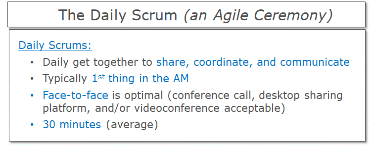 The Daily Scrum