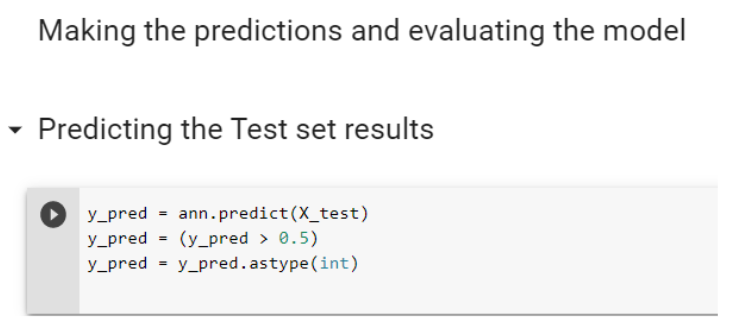 Predicting the Test set results