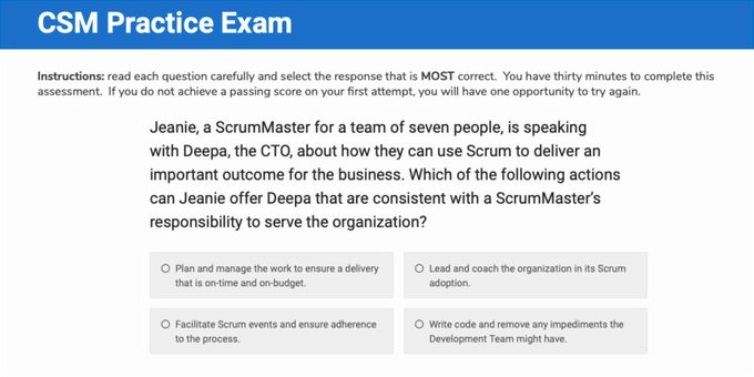 CSM Exam can be taken in multiple attempts