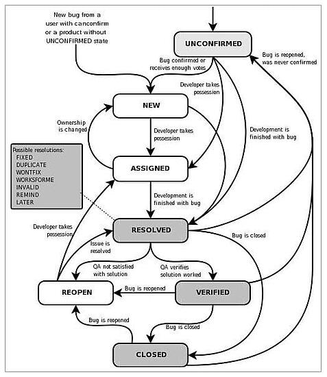 Significant Steps in Bug Life Cycle