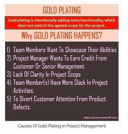Causes of Gold Plating in Project Management