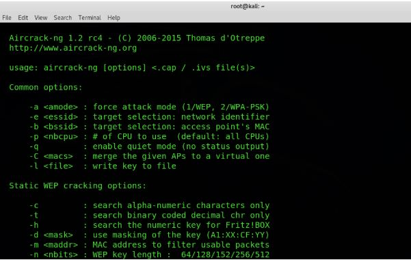 Aircrack-ng - used to monitor, attack, test, and crack WiFi networks.