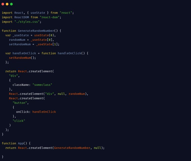 Without JSX